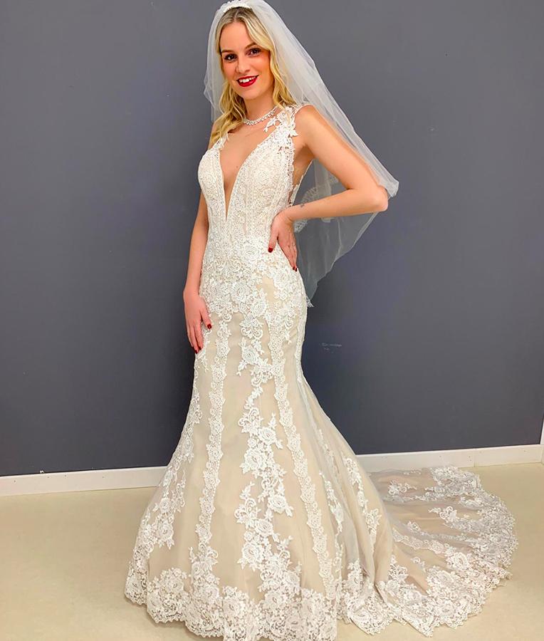 abito da sposa a sirena astrid