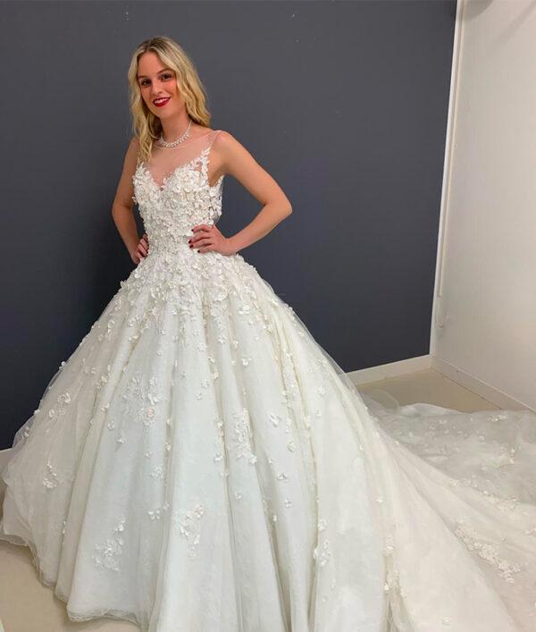 abito da sposa romantico alessia