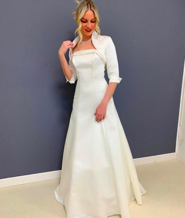 abito da sposa redingote antea